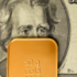 dollar and goldbar